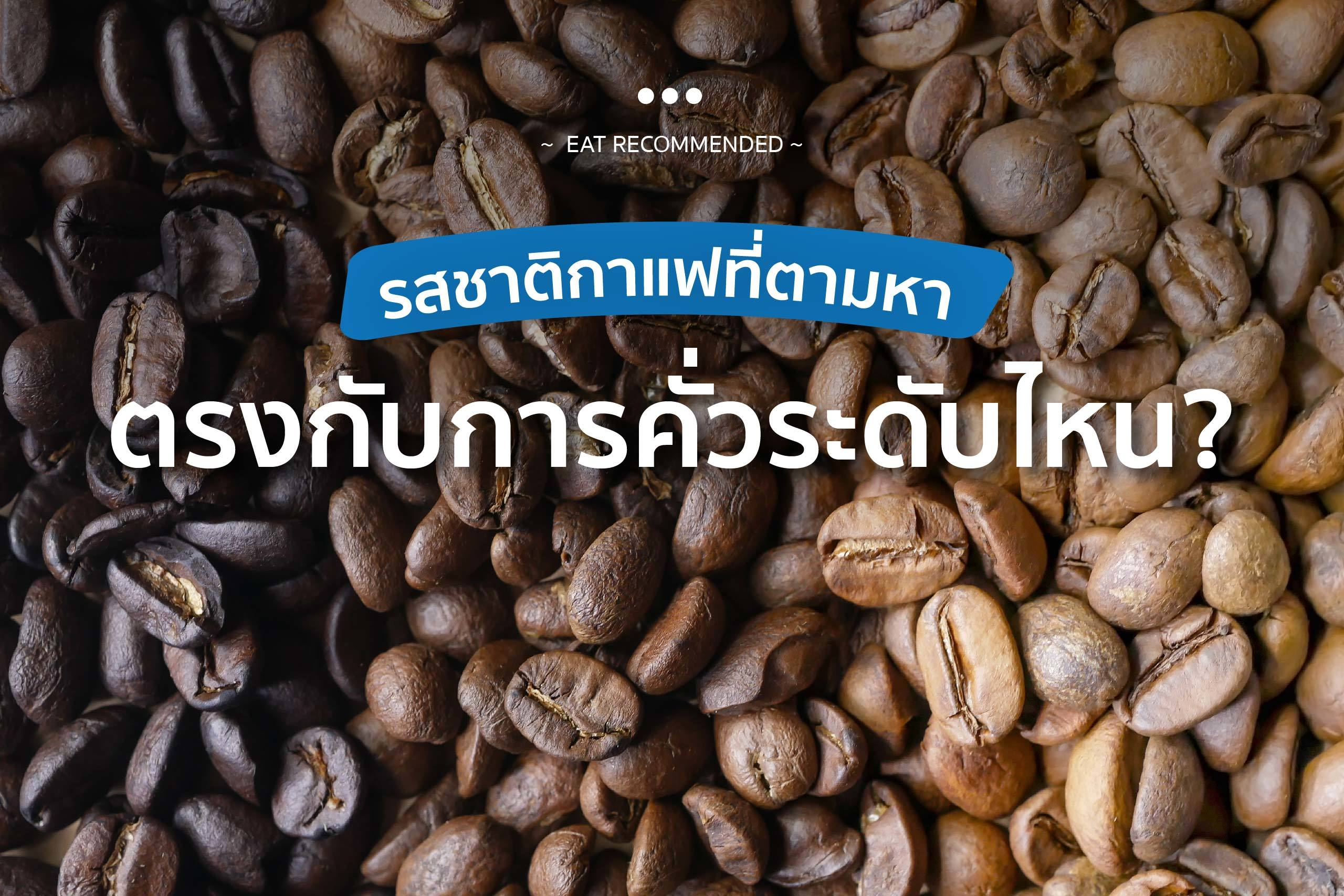 รสชาติกาแฟที่ตามหา ตรงกับการคั่วระดับไหน ปกweb