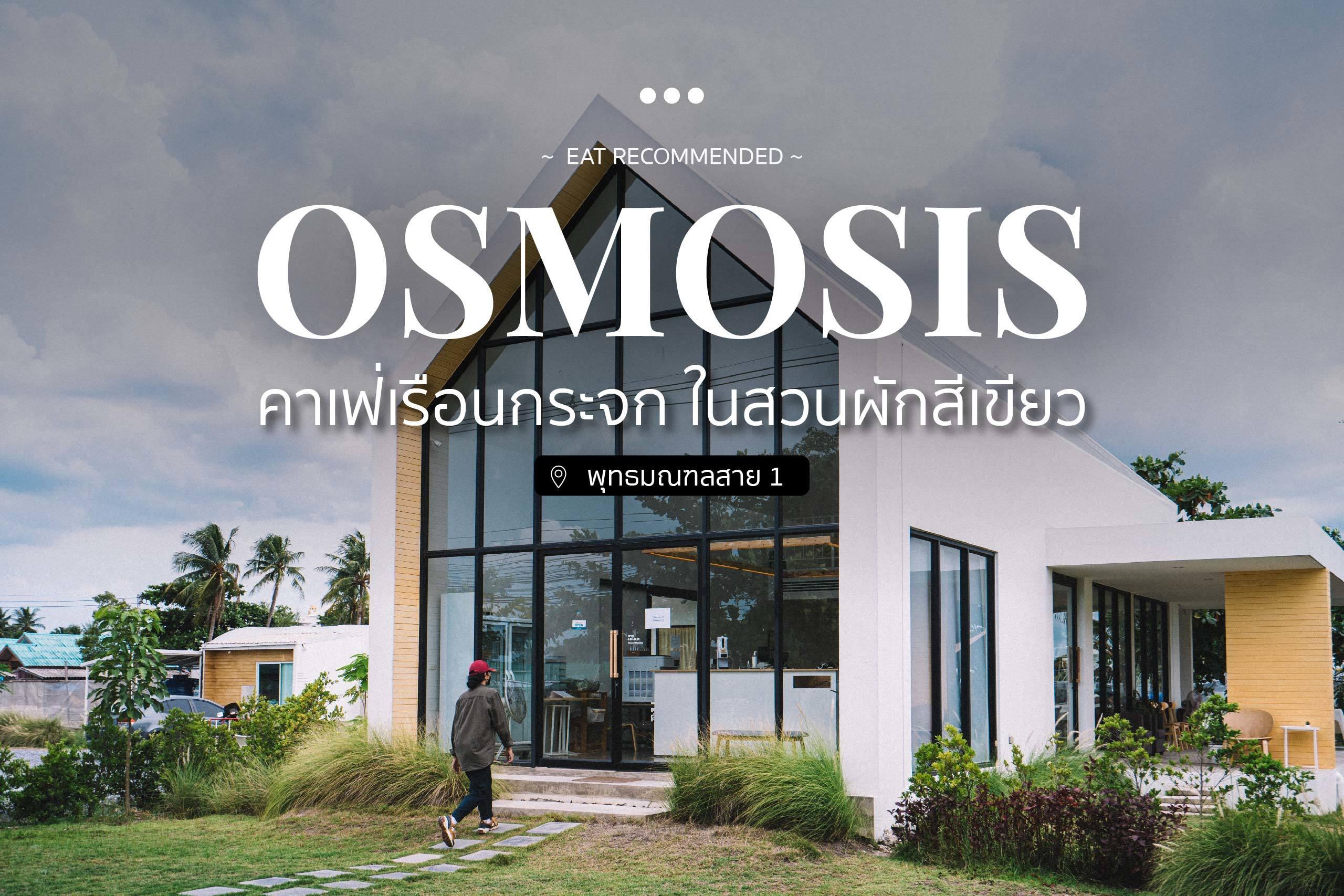 Osmosis คาเฟ่เรือนกระจก ในสวนผักสีเขียว ปกweb
